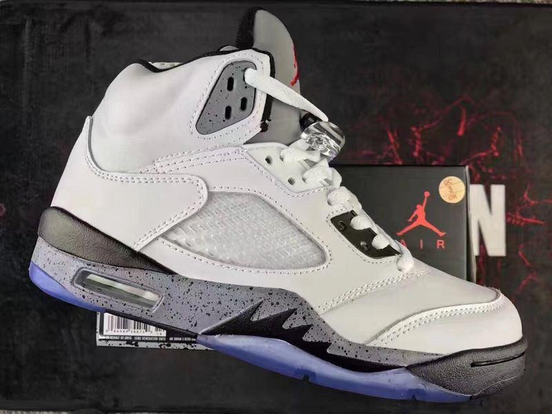 d0de6c1bdfc Nike Air Jodan V 5 Retro White Black Grey Men Shoes - Febbuy