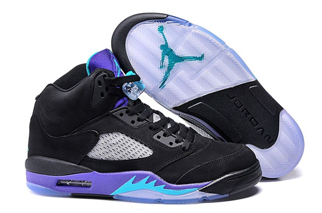 6bbecad32e2f62 Prev Nike Air Jordan 5 Retro Black Grape Black New Emerald Ice Men Shoes  136027 007