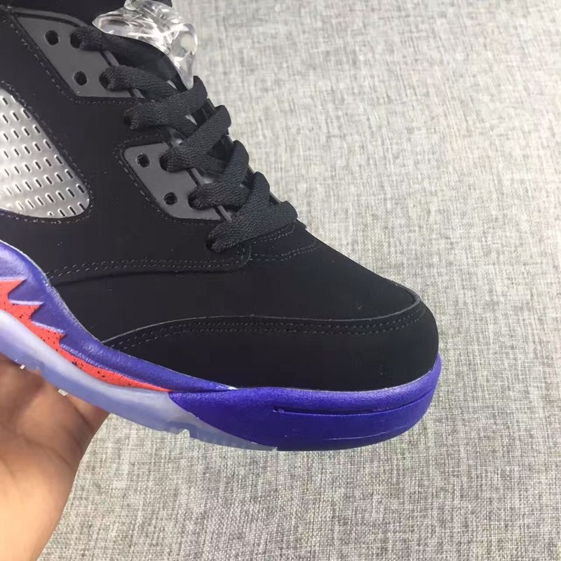 d4f44594fa8239 ... Nike Air Jordan V 5 Retro Toronto Raptors Black Purple Unisex Shoes  440892-017 ...