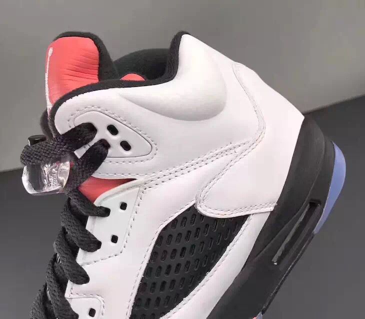 outlet store 9aa83 a253f Nike Air Jordan V 5 Retro Women Basketball Shoes White Black Red 136027-104  ...