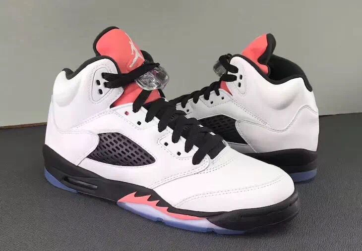 f95df1fe3dcd ... Nike Air Jordan V 5 Retro Women Basketball Shoes White Black Red 136027-104  ...