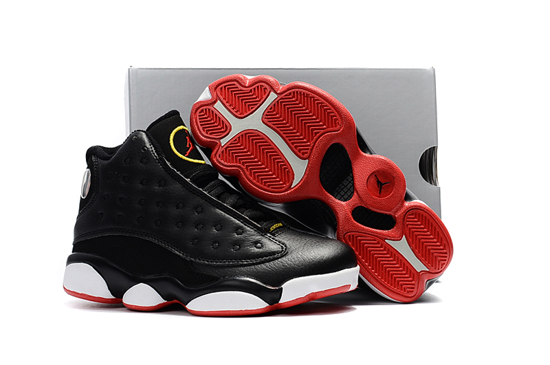 ac56db3c40c Prev Nike Air Jordan XIII 13 Retro Kid Children Shoes Hot Black White Red
