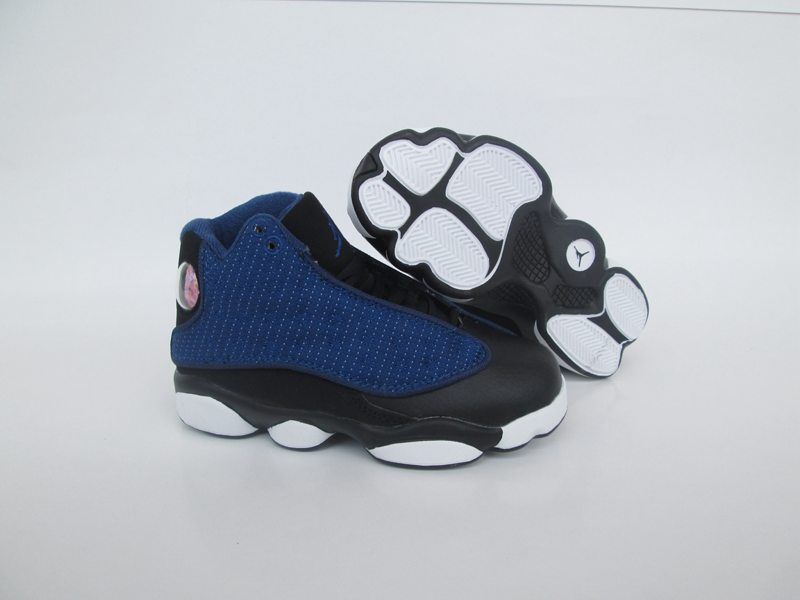 face4006055789 Prev Nike Air Jordan XIII 13 Retro Kid Toddler Shoes High Royal Blue Black  684802