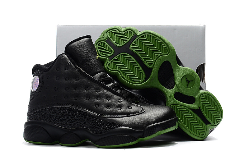 4e8bee095 Prev Nike Air Jordan XIII 13 Retro Kid black green basketball Shoes 310004 -001