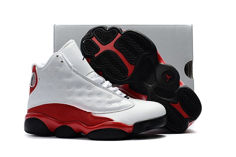 f913855f9c3d39 Nike Air Jordan XIII 13 Retro Kid white red black basketball Shoes ...