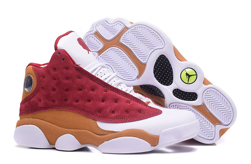 e1b3e43c76d88e Nike Air Jordan XIII 13 Retro White Red Brown Men Shoes 414571-611 ...