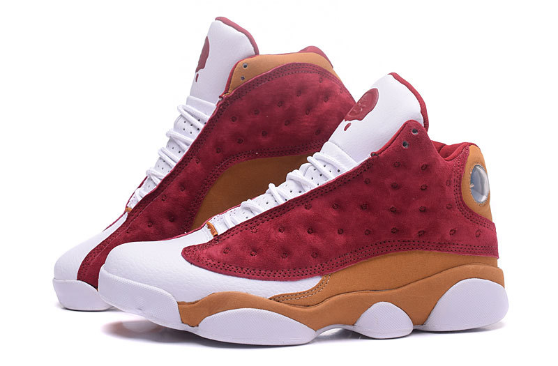 Nike Air Jordan XIII 13 Retro White Red Brown Men Shoes 414571-611 ... d17f9e986