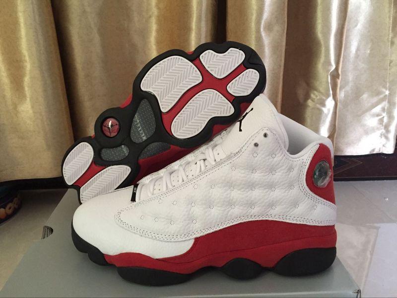 553964aec9b Nike Air Jordan XIII Retro 13 Cherry Chicago White Red Men Basketball Shoes  414571-122