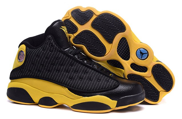 37d728290f4 Prev Nike Air Jordan 13 Melo PE Men Shoes Black Yellow 414571 016. Zoom.  Move your mouse over image or click to enlarge