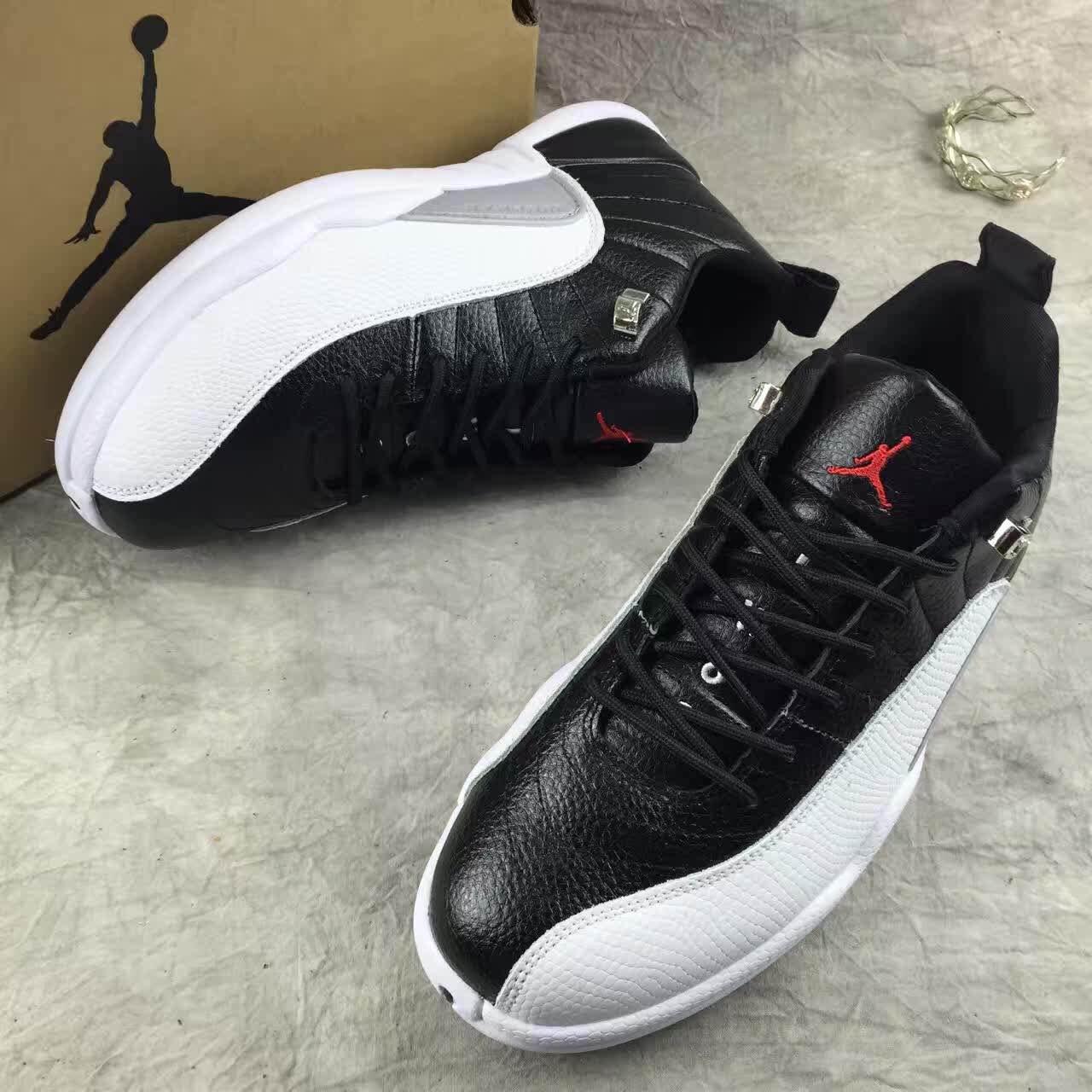 3d3b5e9d0 Nike Air Jordan Retro XII 12 Low Black White Men Shoes 308317 - Febbuy