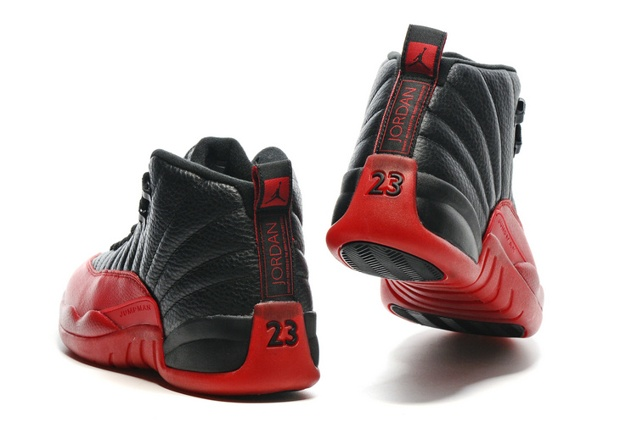 Nike Air Jordan 12 Retro Flu Game Black Varsity Red Men Shoes 130690 ... 79da5c30a
