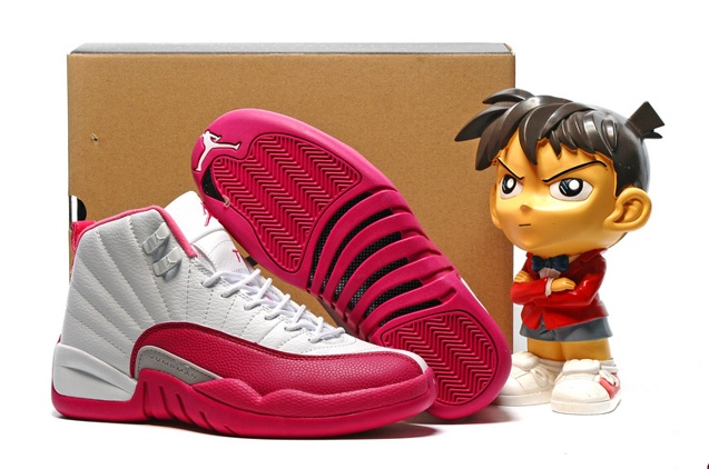 Nike Air Jordan 12 Xii Valentines Day Girls Women Retro Vivid Pink