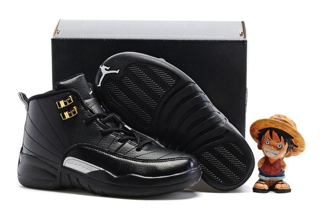 pretty nice d410e 9abc6 Nike Air Jordan Retro 12 The Master Black Metallic Gold BG GS 153265 013