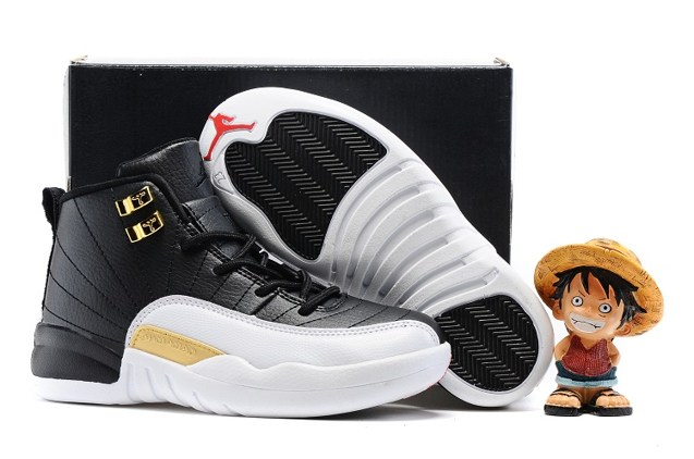 brand new abcaf d6d81 Prev Nike Air Jordan Retro 12 The Master Black Metallic Gold White BG GS  130690 001. Zoom