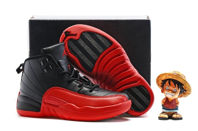e982c173303914 Prev Nike Air Jordan Retro 12 XII BG GS Kids Flu Game Black Varsity Red 153265  002