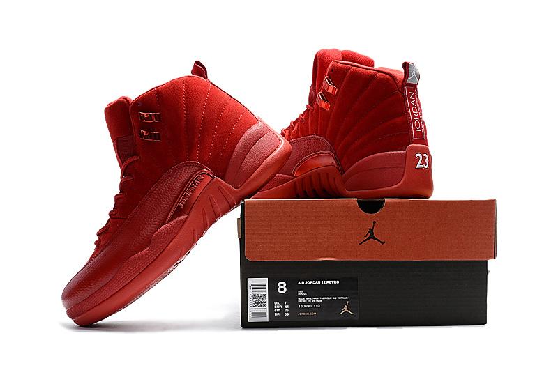 big sale 855f1 8fdca Nike Air Jordan XII 12 Retro All Red Men Shos 130690