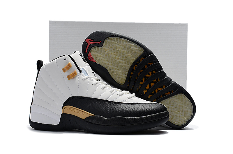 8abba398 Nike Air Jordan XII 12 Retro CNY Chinese New Year Asia Limited White Black  Gold Men Shoes 881427-122