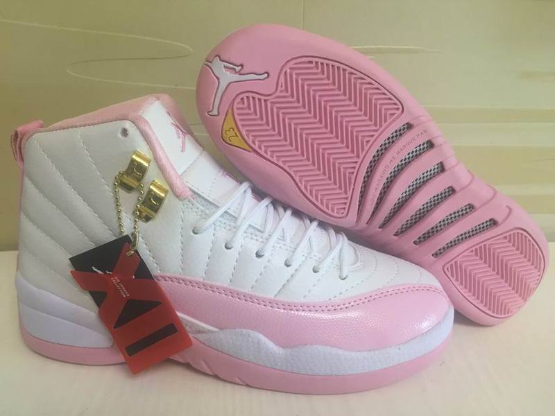 hot sale online 38d22 373df Prev Nike Air Jordan XII 12 White Pink Women Basketball Shoes