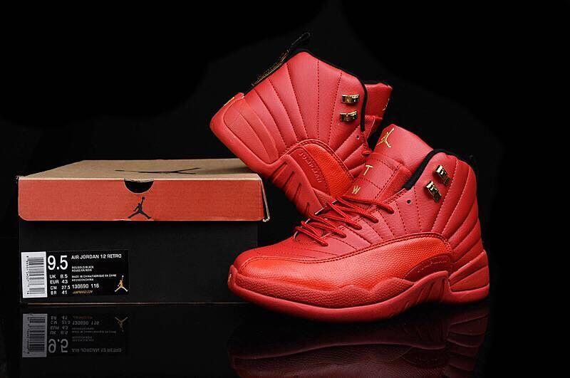 0908eb744 Nike Air Jordan XII Retro 12 Total Red Men Basketball Sneakers Shoes 130690