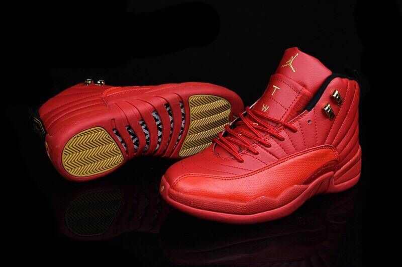 98e4549225edb6 ... Nike Air Jordan XII Retro 12 Total Red Men Basketball Sneakers Shoes  130690 ...