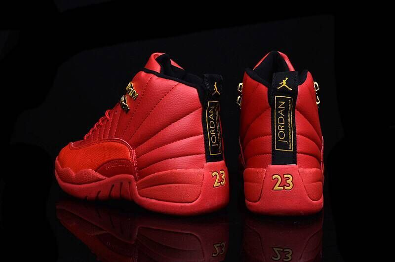 new style d94e5 c92fd ... Nike Air Jordan XII Retro 12 Total Red Men Basketball Sneakers Shoes  130690