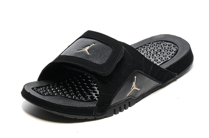 f8bb9ab5d014 Nike Jordan Hydro XII Retro Men Sandals Slides Black Gold 820265-012 ...