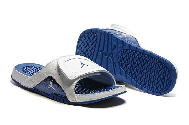 ff75ad6eeb0f Nike Jordan Hydro XII Retro Men Sandals White French Blue Varsity ...