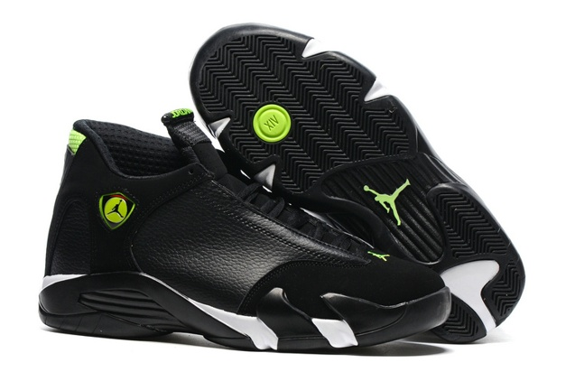 63772ea596c6 Prev Nike Air Jordan 14 Retro XIV Men Shoes Black Mint Green Toe 487471