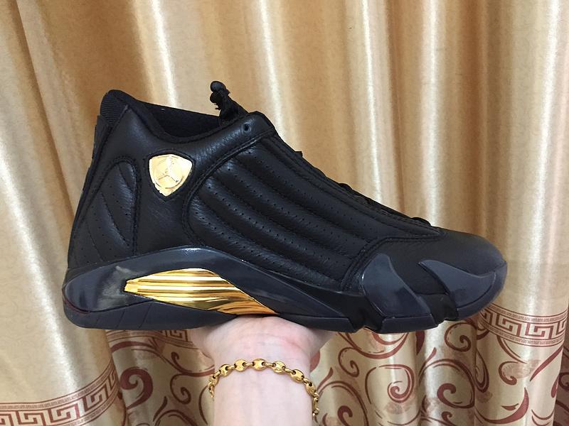 bc9cddc518 Nike Air Jordan Retro XIV 14 Retro Black gold men basketball shoes ...