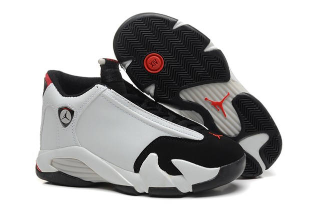 f8e18b69405 Nike Air Jordan XIV 14 Retro BG GS White Black Toe Grade School Gorl ...