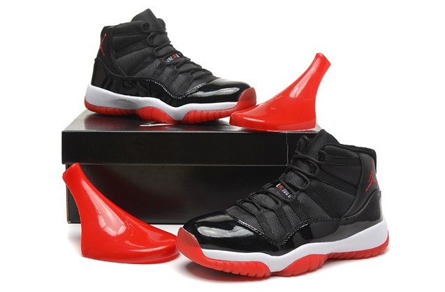 f75f26b1651 ... Nike Air Jordan 11 Bred Retro Black Red White Bred KIDS GS 378038 010  ...