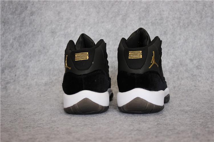 ac4fd18f9f Nike Air Jordan 11 XI Retro Heiress Velvet Black Unisex Shoes 852625 ...