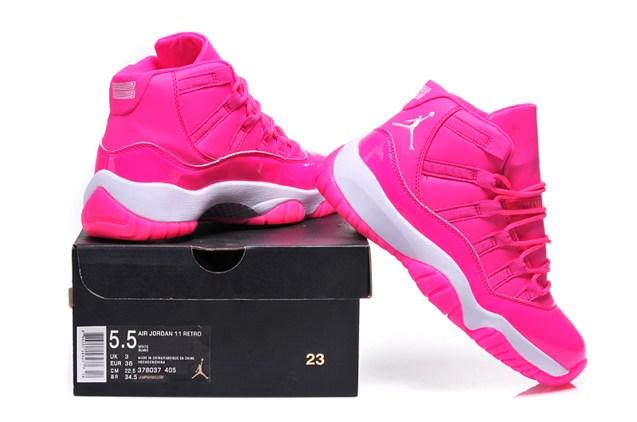 the latest ca5cc 8af93 Nike Air Jordan Retro XI 11 Pink White Women Shoes 378038