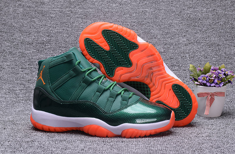 a3fc0532109e Prev Nike Air Jordan XI 11 Retro Big devil Bull Green white orange Men  Basketball Shoes