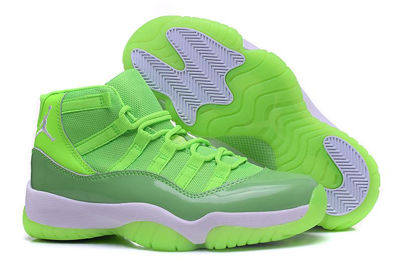 huge selection of 250d1 f1e38 Prev Nike Air Jordan XI 11 Retro Women Basketball Shoes Flu Green  378037-133. Zoom