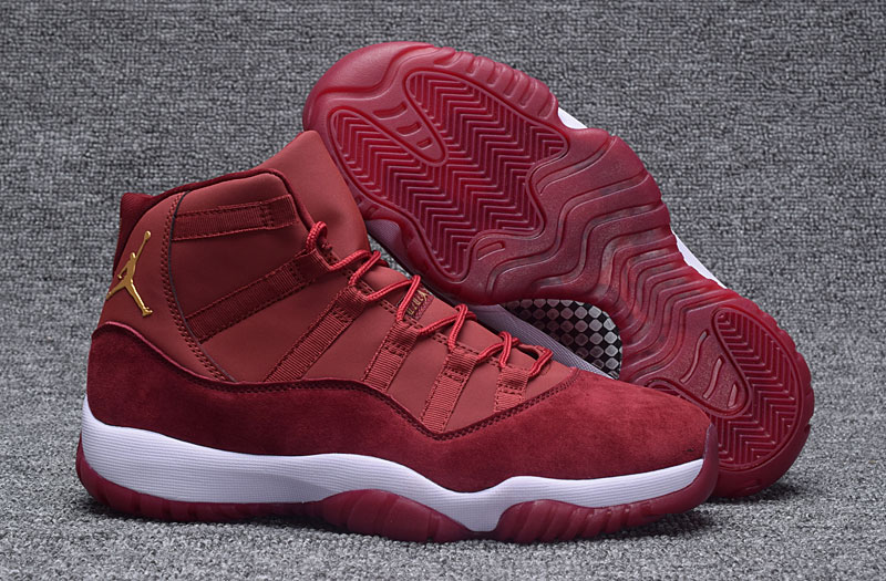 a501cbf1648 Nike Air Jordan XI Retro 11 Heiress Red Velvet Night Maroon 852625 ...