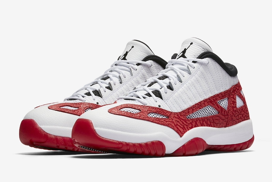 e6d96f877237 Air Jordan 11 Low IE Gym Red White Gym Red-Black 919712-101 - Febbuy