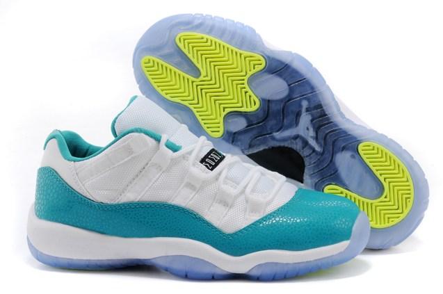 the best attitude f7e78 c1289 Prev Nike Air Jordan 11 XI Retro Low GG White Aqua Green Snakeskin 580521  143