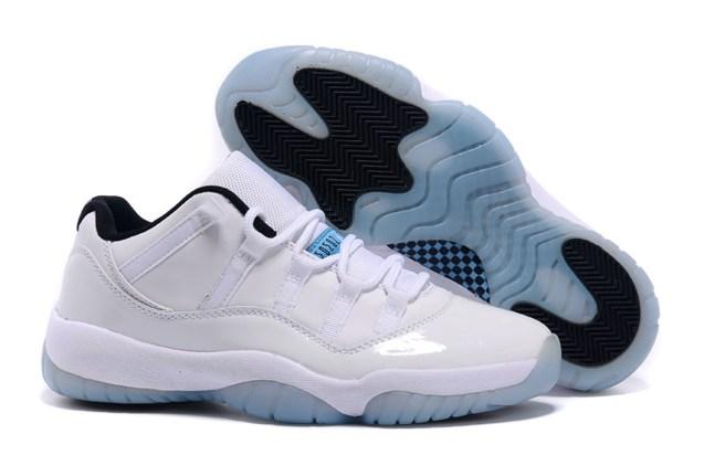 Nike Air Jordan 11 XI Retro Low Legend Blue Columbia Women Shoes ... aa01660d7