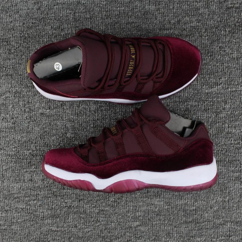 best service 4a926 aae5d Nike Air Jordan Retro 11 XI Heiress red velvet Men Women Shoes 852625-650