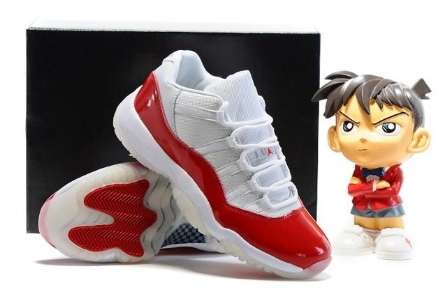 8727cb69ca20 Nike Air Jordan Retro 11 XI Low GS Women Shoes White Varsity Red 528896 102