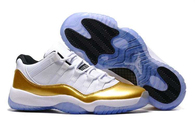 low priced fb21f fb40d ... Retro XI 11 Low White Gold Limited Men Women Shoes Olympic Ready To.  Zoom
