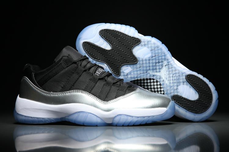 new product 54b52 1072a ... Jordan Retro XI 11 Low White Gorgeous Silver Basketball Men Shoes  528895-011. Zoom