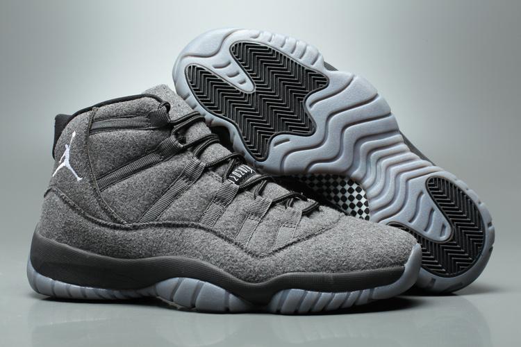 f56e336d148796 Prev Nike Air Jordan XI 11 Retro AJ11 Wool Men Shoes Grey. Zoom