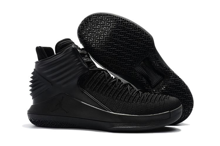 94c67500eaa Nike Air Jordan XXXII 32 Men Basketball Shoes All Black AA1253 - Febbuy