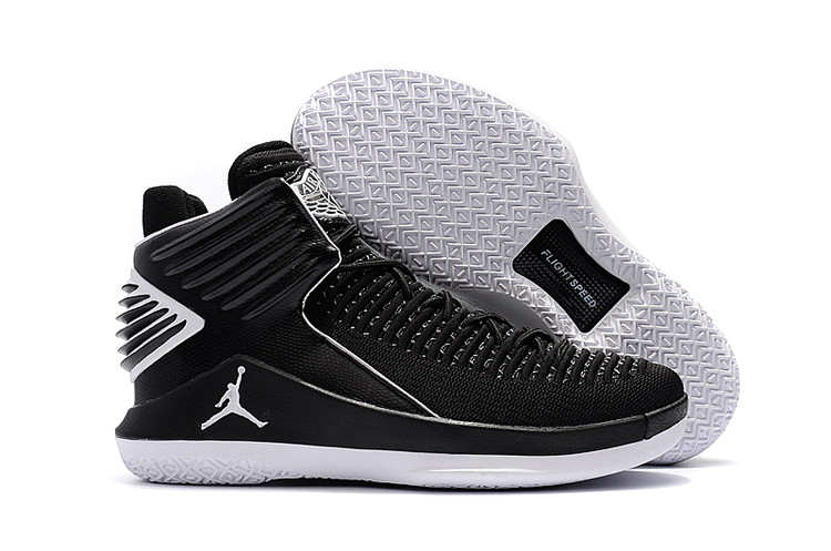847204a02544 Nike Air Jordan XXXII 32 Men Basketball Shoes Black Grey AA1253 - Febbuy