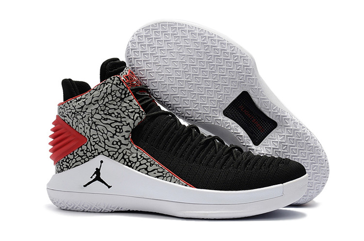 5969f0da8855db Nike Air Jordan XXXII 32 Men Basketball Shoes Black Grey White ...