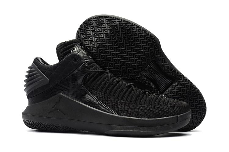 quality design 62ac1 e3214 Prev Nike Air Jordan XXXII 32 Retro Low Men Basketball Shoes All Black  AA1256. Zoom