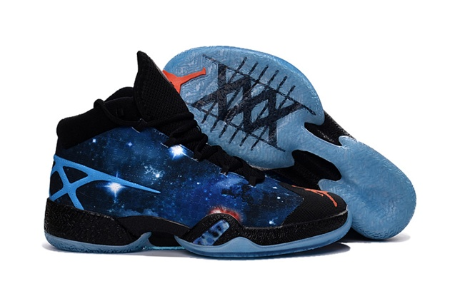 big sale a8fbf bfa84 Nike Air Jordan XXX 30 Sky Blue Mars Stars Red Black Men Shoes 811006