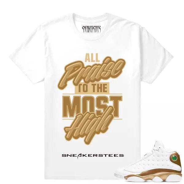 e043cc5ce60 Prev Match Air Jordan 13 DMP All Praise White T shirt. Zoom